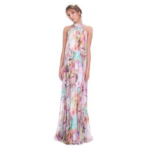 Ted Baker Floral Print Pleated Maxi